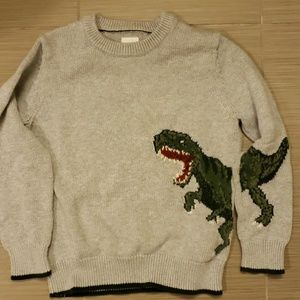 GAP dinosaur cotton sweater